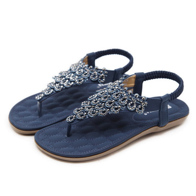 habazoo - Bohemia Casual Comfortable Woman Flip Flops Sandals Soft Bottom Large Size Beach Shoes - Habazoo -