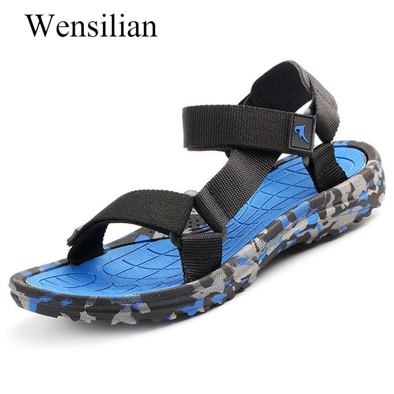 Summer Casual Shoes Men Sandals Gladiator Beach Shoes Leisure Super Fiber Male Flat Sandalias hombre Outdoor Zapatos Hombre - Habazoo