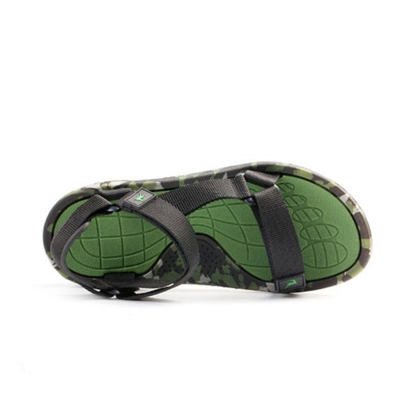 Summer Men Sandals flat Upstream Shoes Male Camouflage Casual Beach Shoes Walking Flip Flops Gladiator Sandals - Habazoo