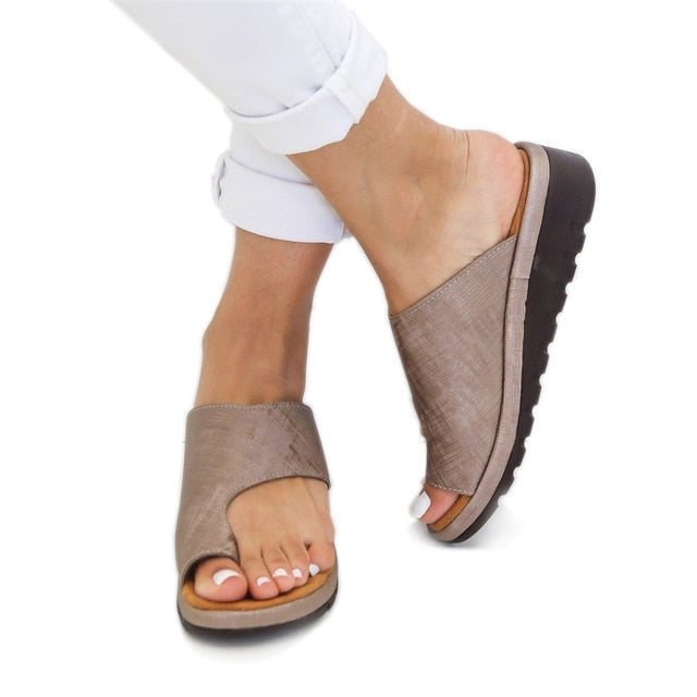 Summer Women Sandals Comfy Platform Flat Sole Ladies Casual Soft  Sandal