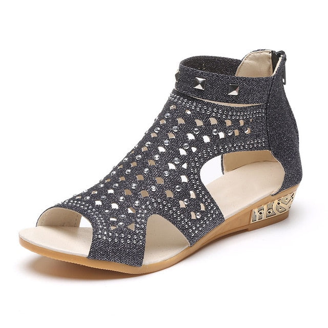 habazoo - Sandals Women  Casual Rome Summer Shoes Fashion Rivet Gladiator Sandals - Habazoo -