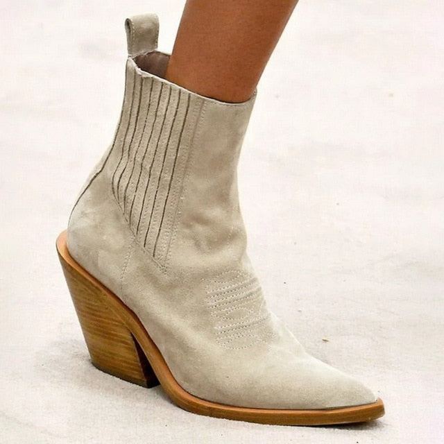 Women Boots Ankle boots Women Botas Wedge Shoes Leather Shoes For Winter Boot Shoes Woman Casual Female Short Boots Ladies 2019