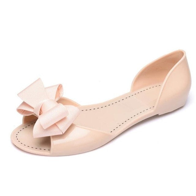 habazoo - Women sandals jelly shoes women casual flat fashion butterfly-knot sandals for women - Habazoo -