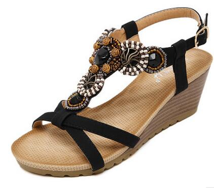 habazoo - New flip flops summer women sandals 2017 gladiator sandals women shoes Bohemia flat shoes - Habazoo -