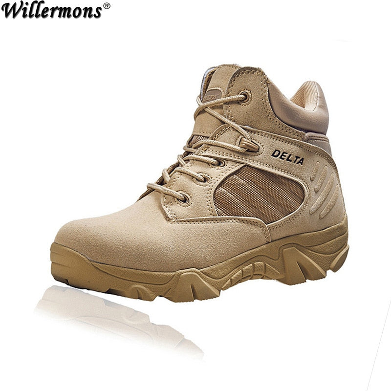habazoo - Genuine Leather Army Combat Outdoor Military Tactical Boots - Habazoo -