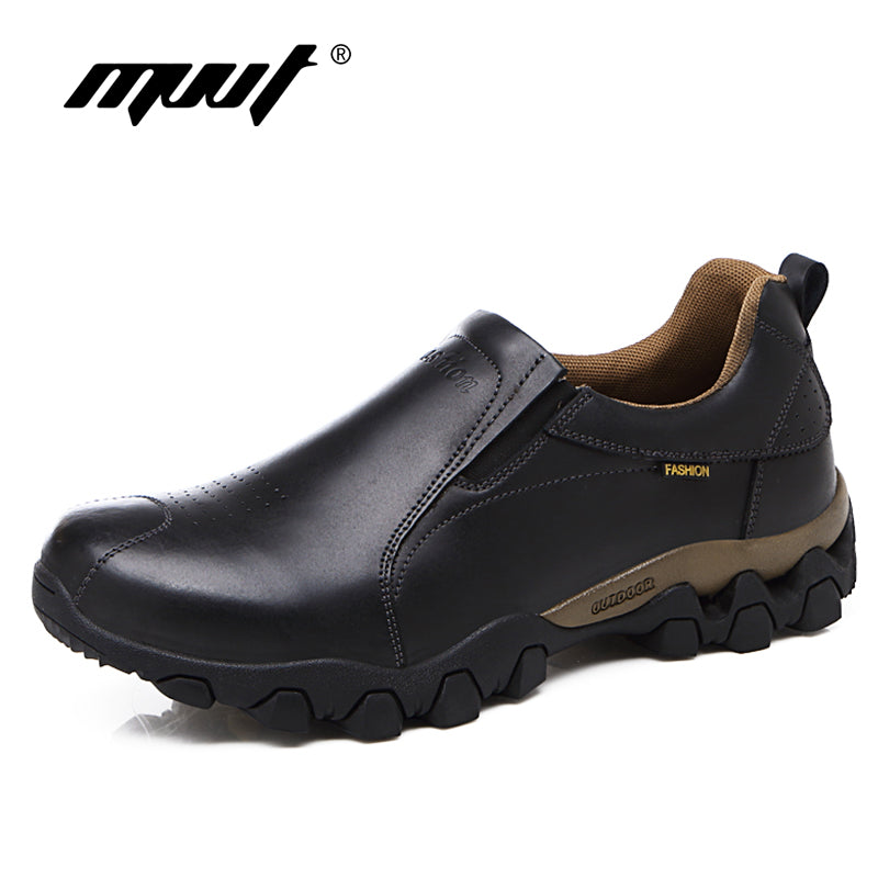 habazoo - Quality  Leather Shoes Men Casual Shoes Waterproof Slip On Men Shoes Flats Anti-Skid Casual Leather - Habazoo -