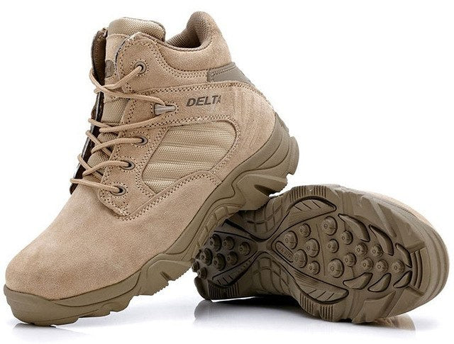 habazoo - Military Tactical  High Quality Round Toe Desert Combat Ankle Boots - Habazoo -