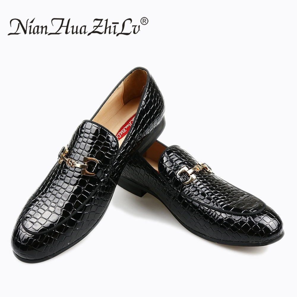 habazoo - stone grain embossed high grade men shoes. Comfortable business men casual shoes. men's flats - Habazoo -