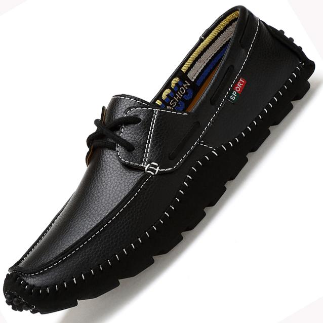 habazoo - Quality Genuine Leather Men Casual  Shoes Soft Moccasins Fashion Brand Men Flats Comfy Driving Boat Shoes - Habazoo -