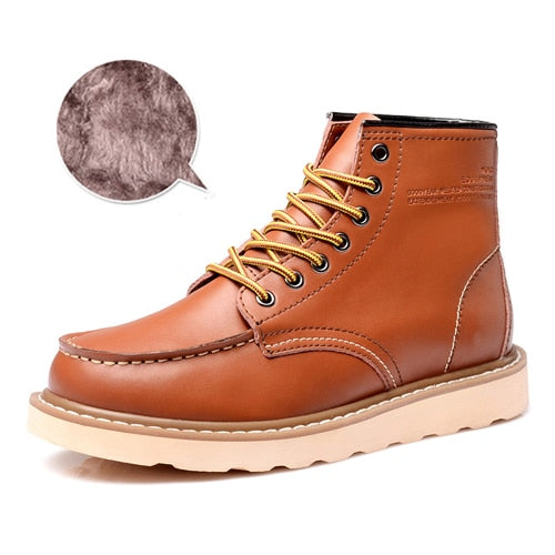 JUNJARM Genuine Leather Leather Boots - Habazoo