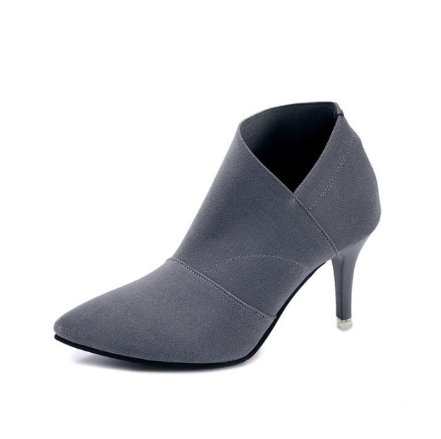 habazoo - Hot Sale Pointed Toe High Heels Women  Basic Shoes Autumn And Winter Casual Fitted Female Single Fashion Outwear Shoe - Habazoo -