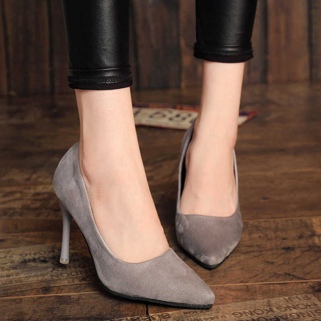 habazoo - New Fashion high heels women pumps thin heel classic - Habazoo -