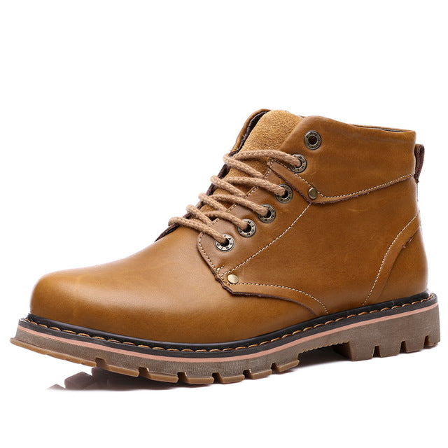 Genuine Leather Water Proof Boots - Habazoo