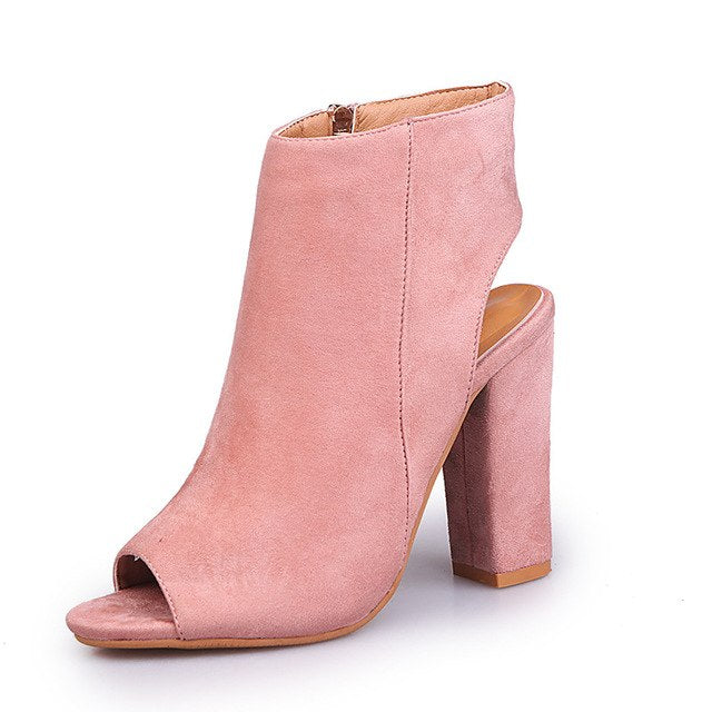 habazoo - Large size 34-43 Boots Fashion 2017 New Fashion Suede Women's Shoes High Heels Ankle Boots Woman Casual Shoes Botines Mujer - Habazoo -