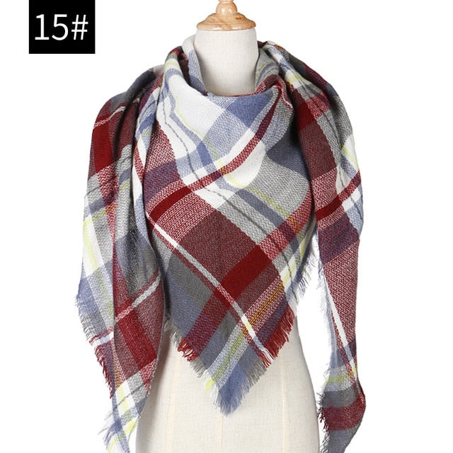 habazoo - women scarf plaid warm cashmere scarves shawls and pashmina  wraps - Habazoo -