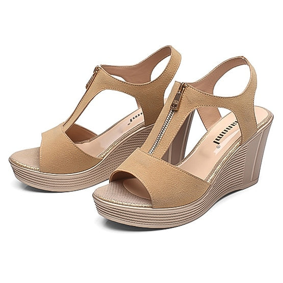habazoo - Women Sandals Wedge Sandal - Habazoo -