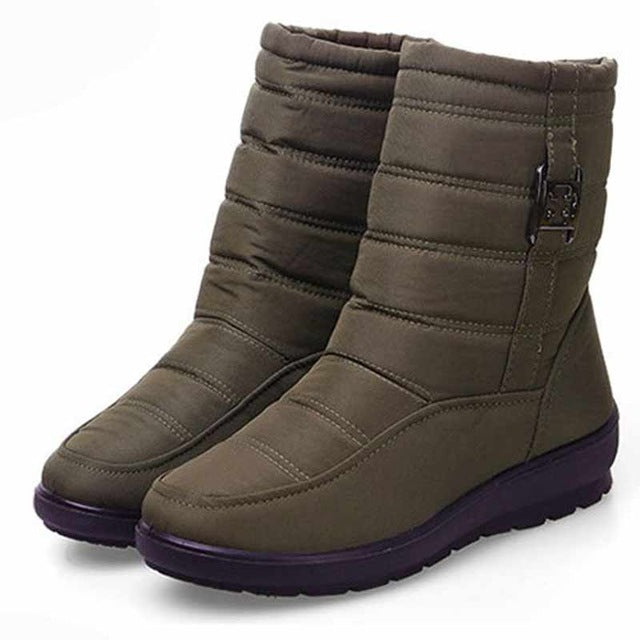 habazoo - Snow boots  fashion casual cozy winter boots women shoes keep warm round toe zipper women boots shoes plus Size - Habazoo -