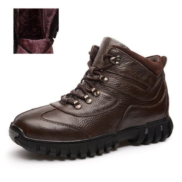 habazoo - Leather Boots Winter Shoes High Quality Working Shoes - Habazoo -