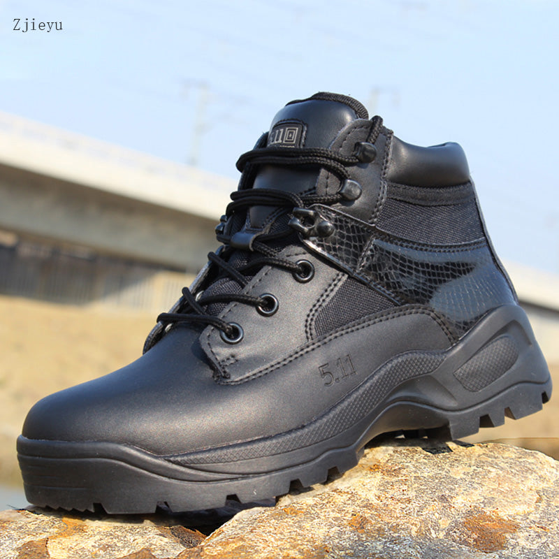 habazoo - Winter leather mountaineering Military Tactical Boots - Habazoo -