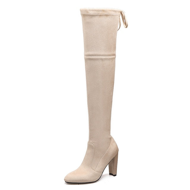 habazoo - Over The Knee High Boots - Habazoo -