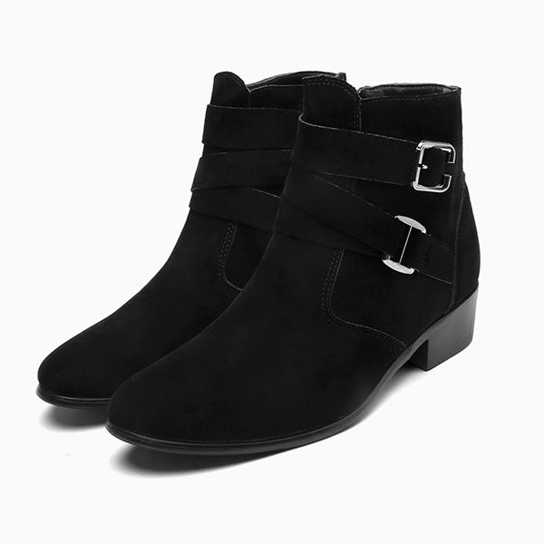 Ankle Boots Pointed Toe Leather - Habazoo