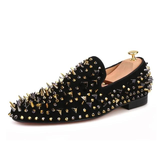 Gold and Black Spikes - Habazoo