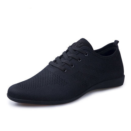 habazoo - Hot Summer Men Shoes Breathable Men Casual Shoes Low Lace-up Mesh Male Shoes Comfortable Flat Shoes - Habazoo -