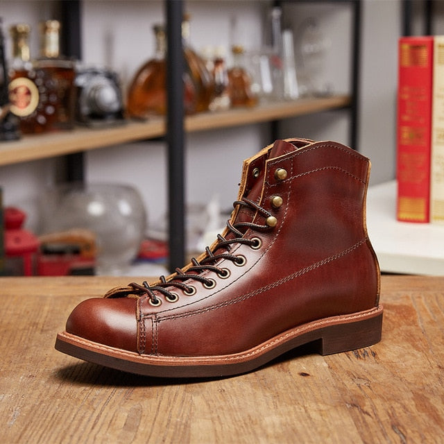 habazoo - Fashion  Leather Luxury Brand Wings Formal Ankle Boots Motorcycle Boots - Habazoo -