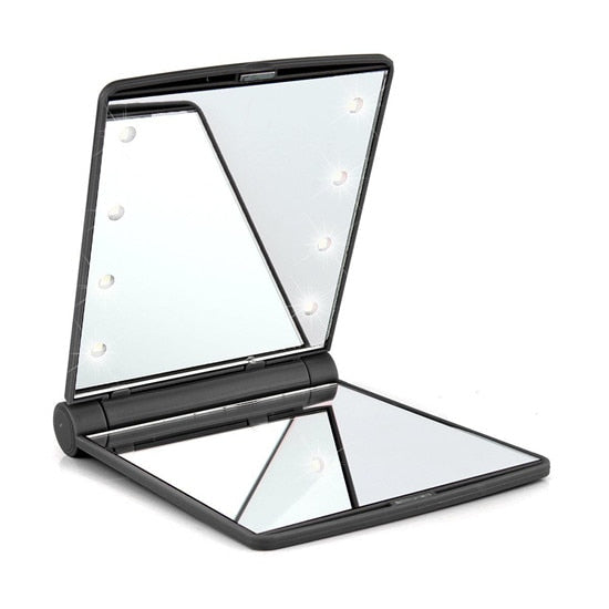 habazoo - Makeup Mirror with 16 LEDs Cosmetic Mirror with Touch Dimmer Switch - Habazoo -