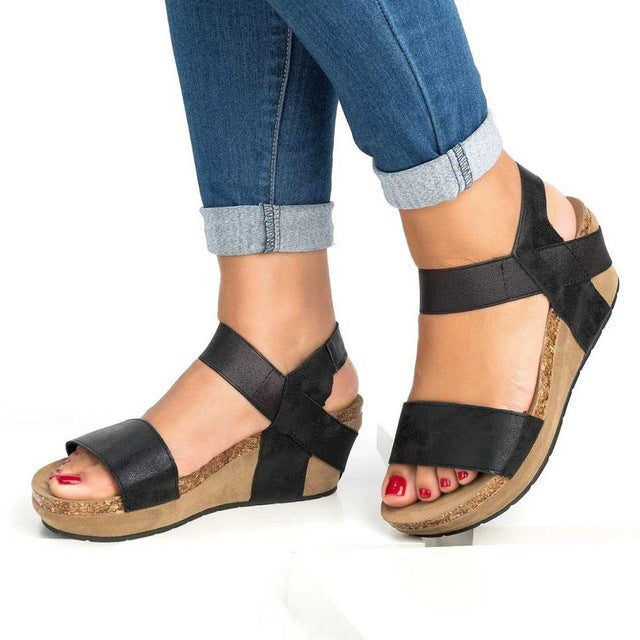 habazoo - Summer Women Sandals Fashion Female Beach Shoes Wedge Heels Shoes Comfortable Platform Shoes Plus Size 42 43 822 - Habazoo -
