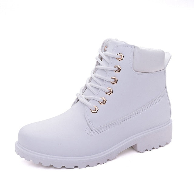 habazoo - Platform Boots Women Ankle Boots Rubber Boots female lady  shoes - Habazoo -