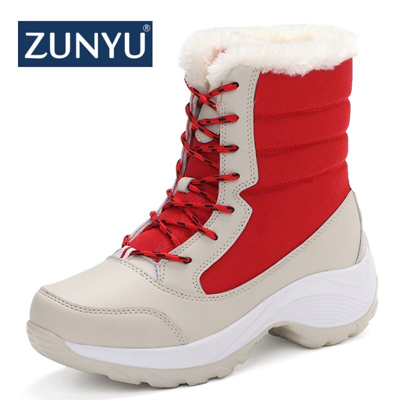 habazoo - white winter boots women fashion snow boots new style women's shoes Brand shoes - Habazoo -