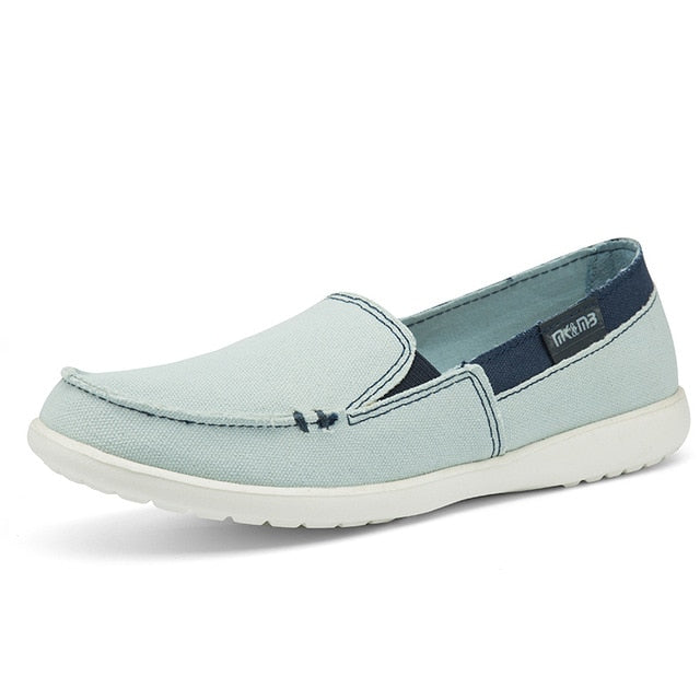 habazoo - Women Canvas Casual shoes Lady loafers - Habazoo -