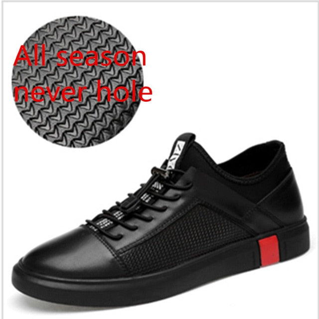 habazoo - leather oxfords  luxury brand Italian style male footwear  for men Breathable Flat Lace-Up Shoes - Habazoo -
