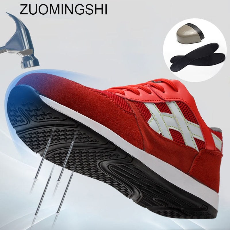 habazoo - Men's Work  Breathable Safety  Protective Footwear Safety Sneakers - Habazoo -