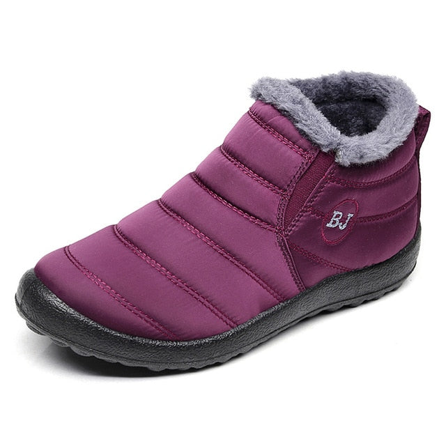habazoo - Women Boots Keep Warm Winter Waterproof Snow Boots With Fur Winter Ankle Boots Female Plus Size 35-46 - Habazoo -