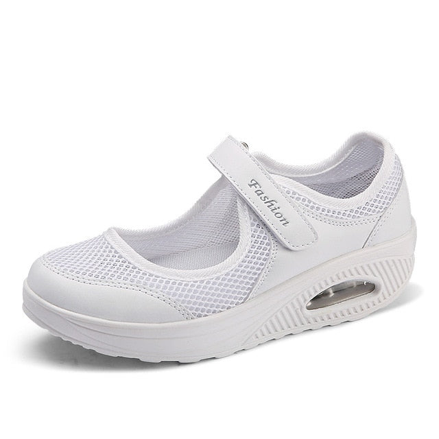 habazoo - Women Flat Platform Shoes Woman Breathable Mesh Casual  Ladies Boat Shoes - Habazoo -