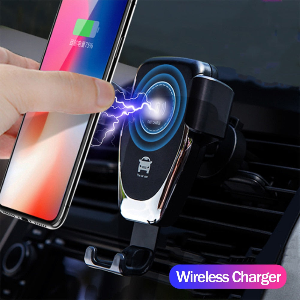 habazoo - FAST 10W Wireless Car Charger Air Vent Mount Phone Holder For iPhone XS Max Samsung S9 Xiaomi MIX 2S Huawei Mate 20 Pro 20 RS - Habazoo -