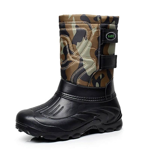 habazoo - Military Boots Male Snow Ankle Boots Warm Waterproof Fur Tactical Boot - Habazoo -