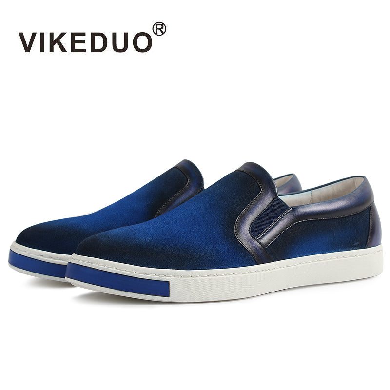 habazoo - Handmade Vintage Designer Leisure Fashion Luxury Brand Male Shoe Genuine Leather Men's Skateboard Causal Shoes - Habazoo -
