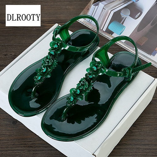 habazoo - Women Sandals Flip Flops 2018 New Summer Fashion Beach Flower Breathable Non-slip Flat Shoes Slides Lady Casual Female - Habazoo -