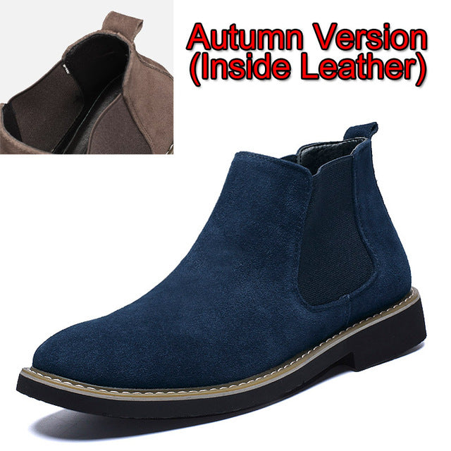 habazoo - Men Boot Winter Male Chelsea Boots for Men Leather Ankle Boots Man Booties Footwear Outdoor - Habazoo -
