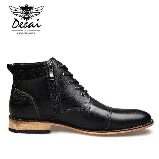 Casual High Top Quality Genuine Leather Boots - Habazoo