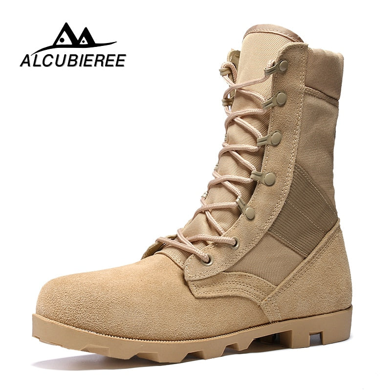 habazoo - Military Boots Desert Combat High Top Ankle - Habazoo -