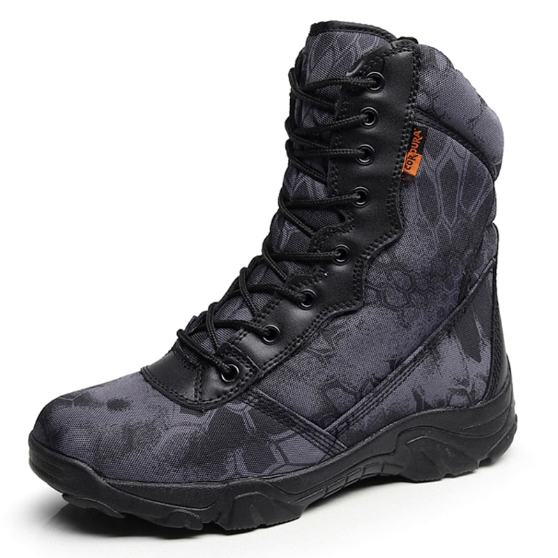 Military Combat Tactical Black Python Combat Army Hiking Tactical - Habazoo