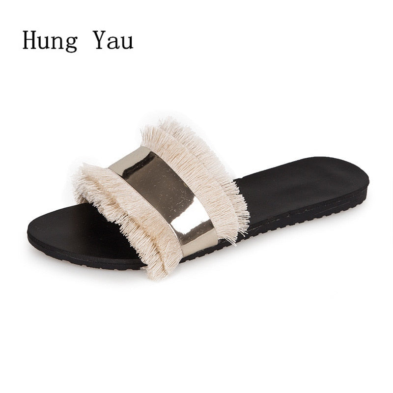 habazoo - Women Sandals Slippers Flips Flops  Summer Style Shoes Woman Wedges Sandals Fashion Platform Female Slides Ladies Shoes - Habazoo -