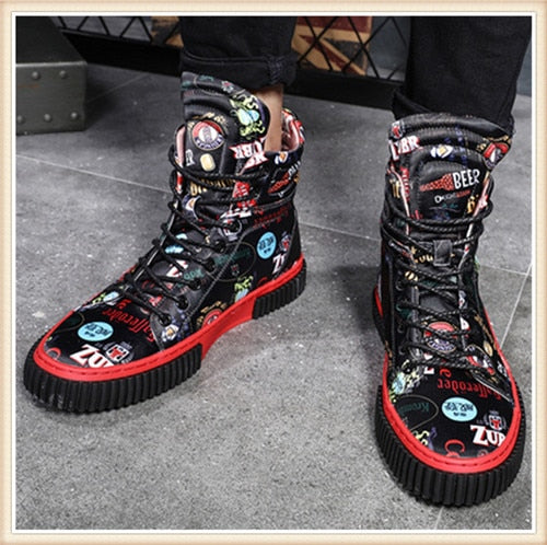 Handmade  Punk Fashion  Ankle Boots