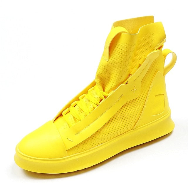 Fashion High Top Casual Shoes - Habazoo