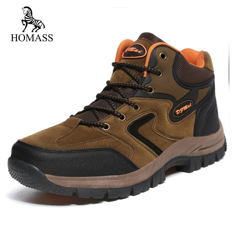 HOMASS Super Leather Cow Suede Unisex Leisure - Habazoo