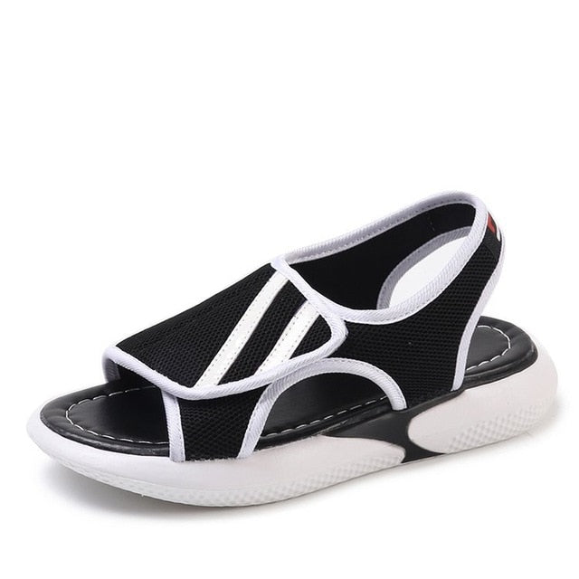 habazoo - Fashion Women Sandals  Breathable Comfort Shopping Ladies Walking Shoes Summer Platform Air mesh Sandal Shoes - Habazoo -